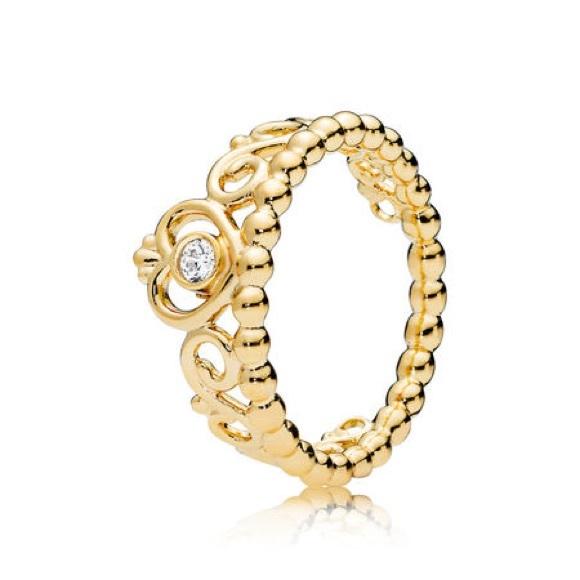 158d7266b Pandora Jewelry   My Princess Tiara Ring Shine Clear Cz   Poshmark